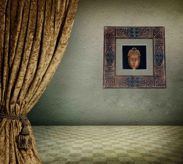 Antik Çağ Mısır Tarihi Eski İşlemeli Camlı Tablo 30x30x4