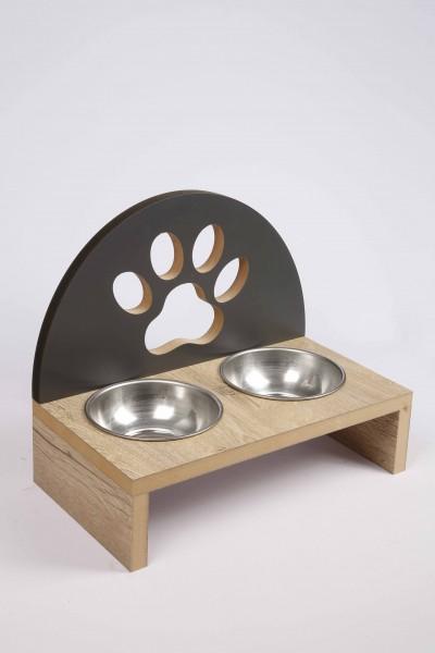 Özel Tasarım Ahşap Köpek Kedi Mama Kabı