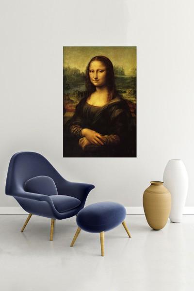 Monalisa Modelli Dikey Yağlı Boya Desenli kanvas tablo 50x70