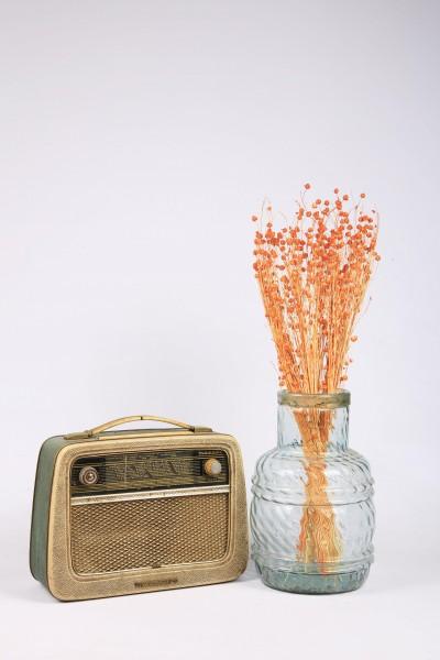 Şoklanmış Doğal Kuru Çiçek Turuncu Keten Otu Demeti 30-40cm