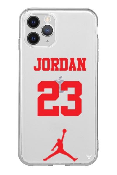 Jordan Baskılı iPhone 12 Pro Max Şeffaf Silikon Telefon Kılıfı