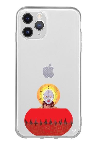 Lin Pesto Kadın Baskılı iPhone 12 Pro Şeffaf Telefon Kılıfı