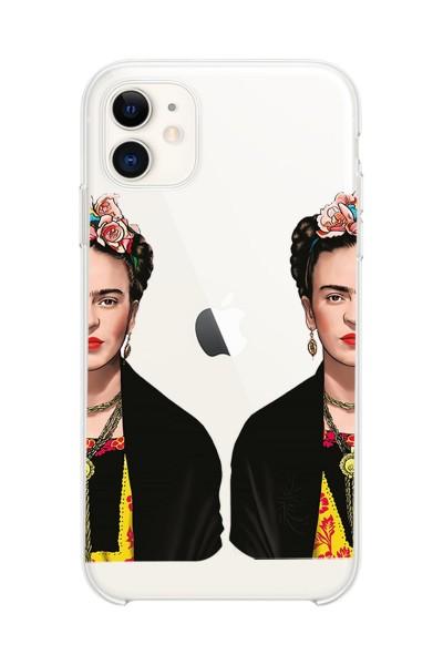 Frida Kahlo Baskılı iPhone 12 Mini Kabı Şeffaf Telefon Kılıfı