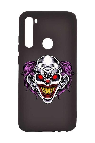 Joker Animasyon Baskılı Redmi Note 8 Kabı Siyah Telefon Kılıfı