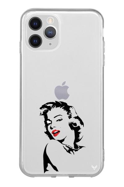 Marilyn Monroe Baskılı iPhone 12 Pro Şeffaf Telefon Kılıfı