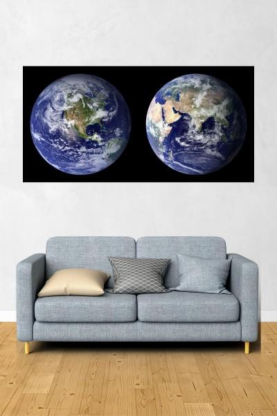 Dünya Modelli Yatay Yağlı Boya Desenli kanvas tablo 70x50