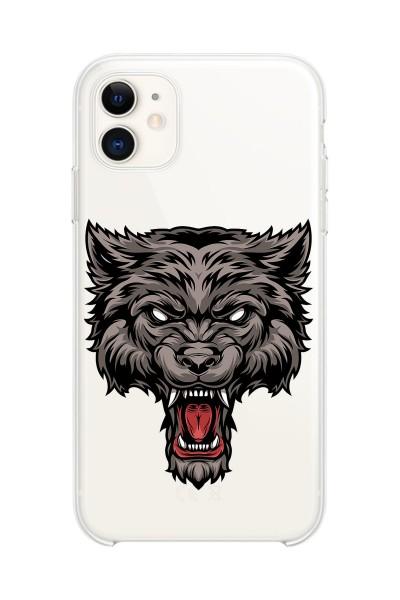 Kurt Baskılı iPhone 11 Kabı Şeffaf Silikon Telefon Kılıfı
