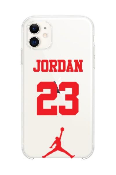 Jordan Baskılı iPhone 11 Kabı Şeffaf Silikon Telefon Kılıfı
